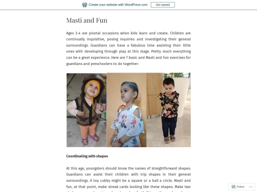 7 Masti and Fun Activities to Do with Your 3-4 Year Old