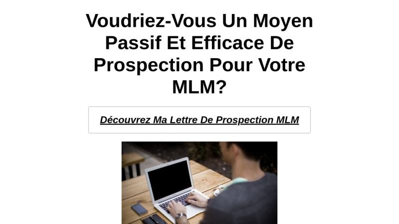 lettre de prospection mlm automatique