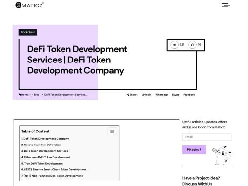 DeFi Token Development | DeFi