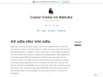 Cramer Cramer om Matkultur