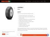 215/55R17 MAP1 Performance touring tire with great handling and comfort
