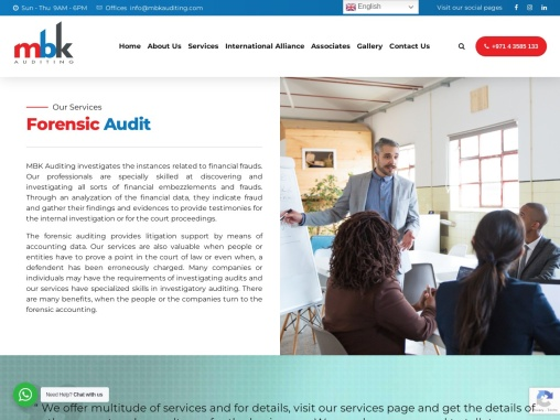 Forensic Accounting services in Dubai