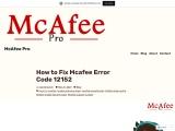 How to Fix Mcafee Error Code 12152