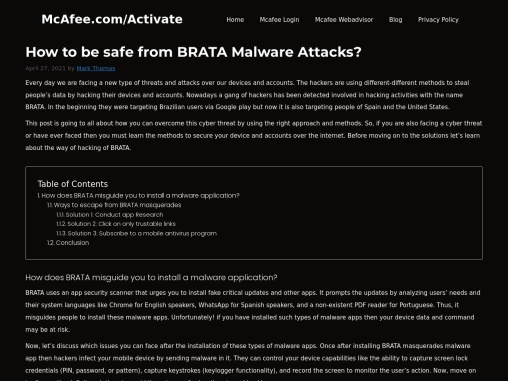 How to be safe from BRATA Malware Attacks?