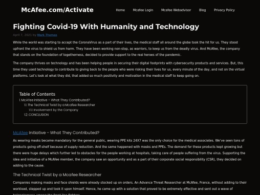 Fighting Covid-19 With Humanity and Technology