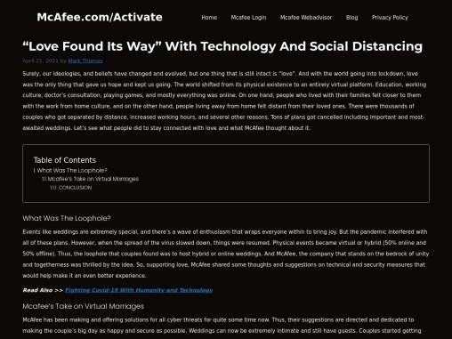 """Love Found Its Way"" With Technology And Social Distancing"