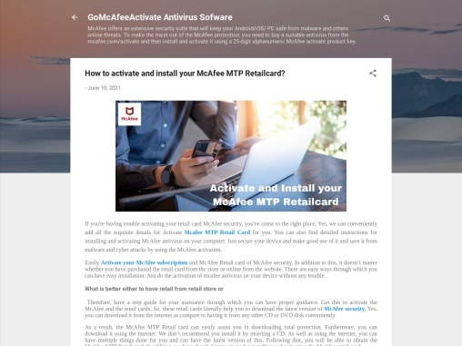 How to activate and install your McAfee MTP Retailcard?