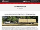 Delivery To Door | McLaren Containers | Containers For Sale