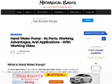 Hand Water Pump – Parts, Working, Advantages, and Applications