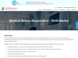 Medical Device Registration, Medical Device Notification, RoW Market