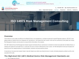 Medical Device Risk Management Consulting, ISO 14971 Risk Management
