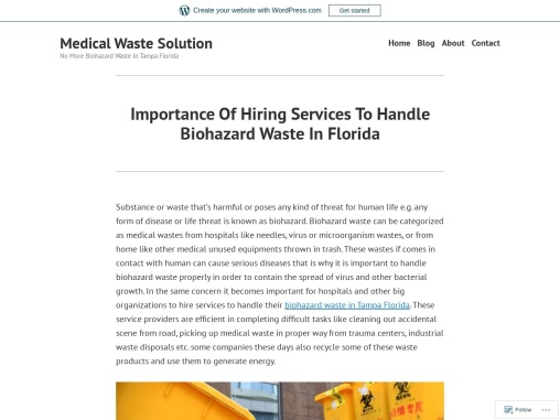 Importance Of Hiring Services To Handle Biohazard Waste In Florida