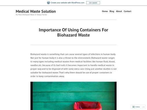 Importance Of Using Containers For Biohazard Waste