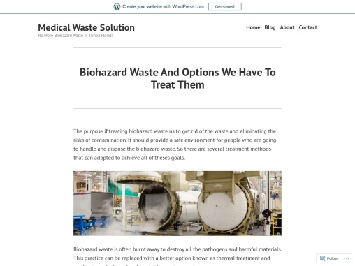 Biohazard Waste And Options We Have To Treat Them