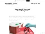 Importance Of Biohazard Waste Management