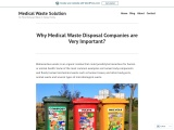 Why Medical Waste Disposal Companies are Very Important?