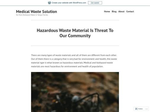 Hazardous Waste Material Is Threat To Our Community