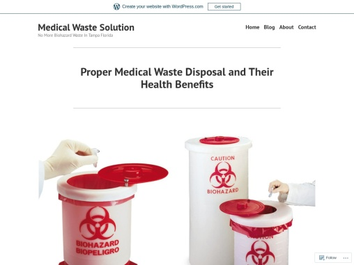 Proper Medical Waste Disposal and Their Health Benefits