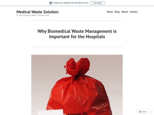 Why Biomedical Waste Management is Important for the Hospitals