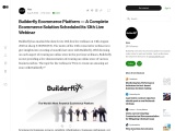 Builderfly Ecommerce Platform – A Complete Ecommerce Solution Scheduled its 13th Live Webinar