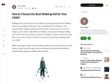 How to Choose the Best Walking Aid for Your Child?