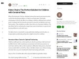 Kidoo Chairs: The Perfect Solution for Children with Cerebral Palsy