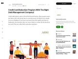 What is Credit Card Reduction Program?