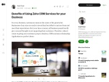 Zoho CRM Services for your Business