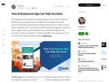 8 Benefits of having a Mobile app for Restaurant & Cafe Owners