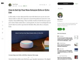 How to Set Up Your New Amazon Echo or Echo Dot