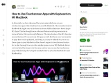 How to Use Touchscreen Apps with Keyboard on M1 MacBook