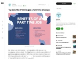 Top Benefits of Working as a Part-Time Employee