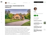HOW TO SELL YOUR HOUSE FAST IN OAKVILLE?