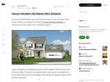 House valuation Auckland, New Zealand