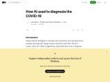 How AI used to diagnosis the COVID-19
