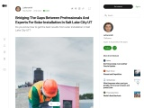 Bridging The Gaps Between Professionals And Experts For Solar Installation In Salt Lake City UT | po