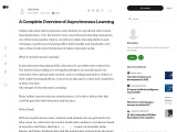 Complete overview about Asynchronous Learning