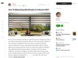 How To Make Beautiful Shades In Odenton MD?