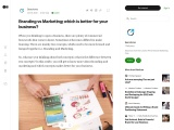 Branding vs Marketing; which is better for your business?