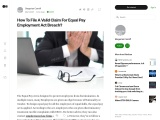 How To File A Valid Claim For Equal Pay Employment Act Breach?
