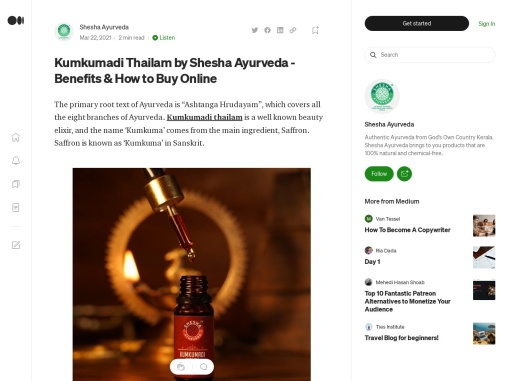 Kumkumadi Thailam by Shesha Ayurveda – Benefits & How to Buy Online