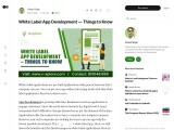 White Label App Development — Things to Know