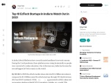 Top 10 EdTech Startups In India to Watch Out in 2021