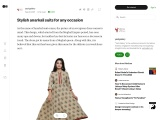 Stylish anarkali suits for any occasion