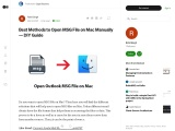 Best Methods to Open MSG File on Mac Manually