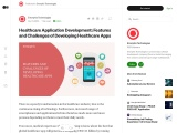 Healthcare Application Development: Features and Challenges of Developing Healthcare Apps