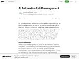 AI Automation for HR management