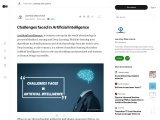Challenges faced in Artificial Intelligence