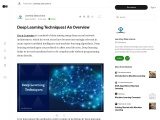Deep Learning Techniques | An Overview