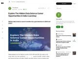 Explore The Hidden Data Science Career Opportunities in India | Learnbay